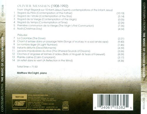 Contemplations: The Music of Olivier Messiaen