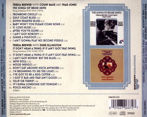 The  Songs of Bessie Smith/It Don't Mean a Thing If It Ain't Got That Swing