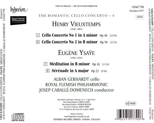 The Romantic Cello Concerto, Vol. 6: Vieuxtemps, Ysaÿe