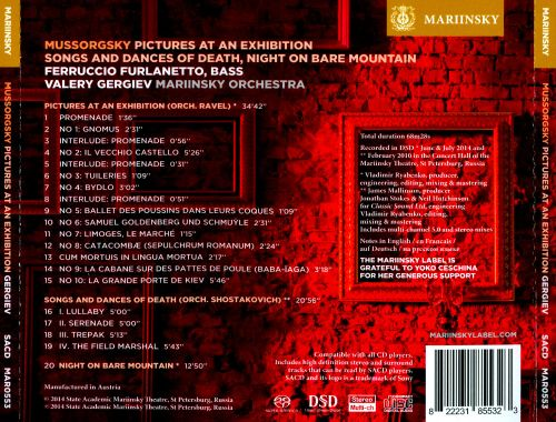 Mussorgsky: Pictures at an Exhibition; Songs and Dances of Death; Night on Bare Mountain