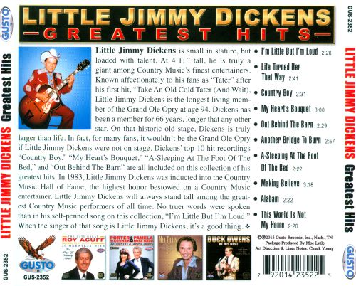 Jimmy Dickens' Greatest Hits