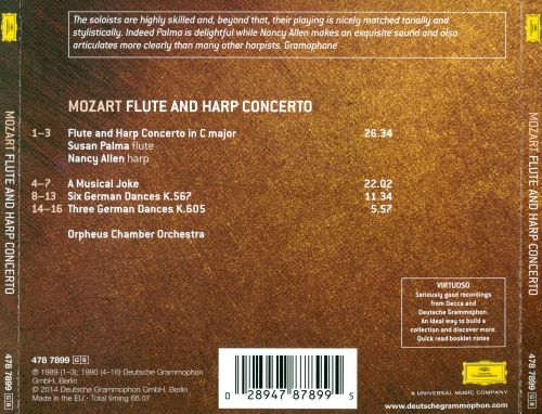 Mozart: Flute and Harp Concerto