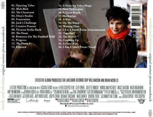 Words and Pictures [Original Motion Picture Soundtrack]