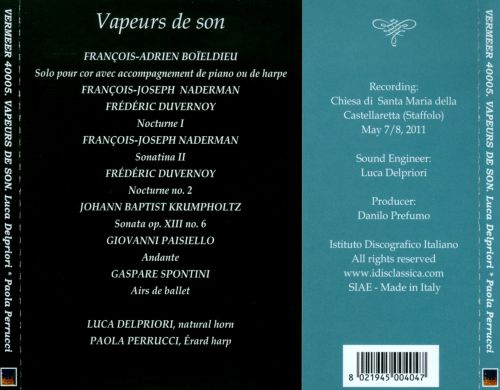 Vapeurs de Son: Original works for natural horn and Érard harp from the Napoleonic Age