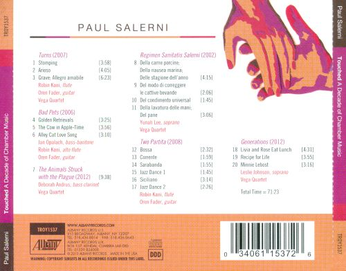 Paul Salerni: Touched - A Decade of Chamber Music