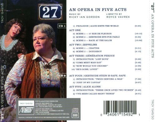 Ricky Ian Gordon: 27, An Opera in Five Acts