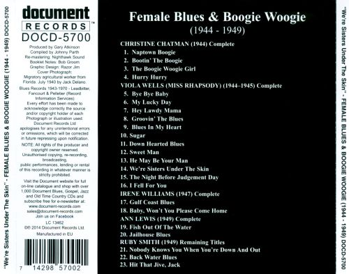 We're Sisters Under the Skin: Female Blues & Boogie Woogie