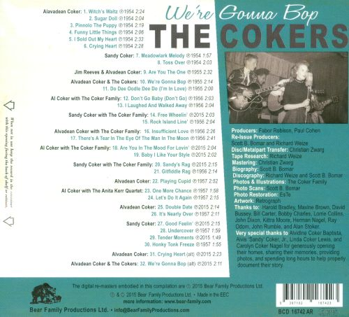 We're Gonna Bop: The Complete Coker Family Recordings on Abbott and Decca: 1954-1957