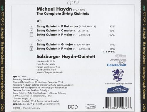 Michael Haydn: The Complete String Quintets