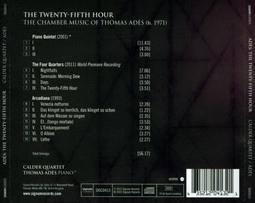 The Twenty-Fifth Hour: The Chamber Music of Thomas Adès