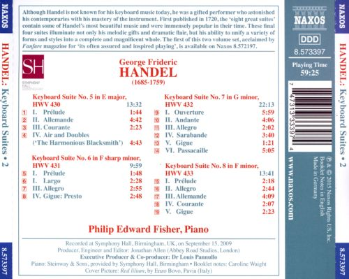 Handel: Keyboard Suites, Vol. 2