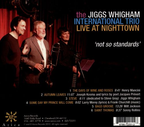 Live at Nighttown: Not So Standards