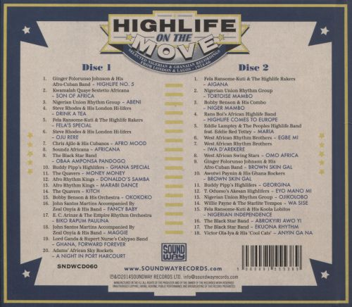 Highlife On The Move: Selected Nigerian And Ghanaian Recordings, 1954-1966