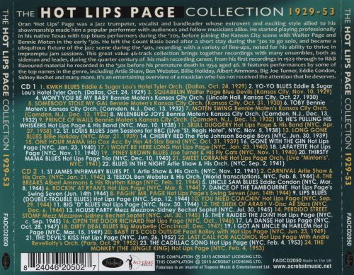 The Hot Lips Page Collection: 1929-53