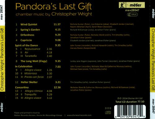 Pandora's Last Gift: Chamber works by Christopher Wright