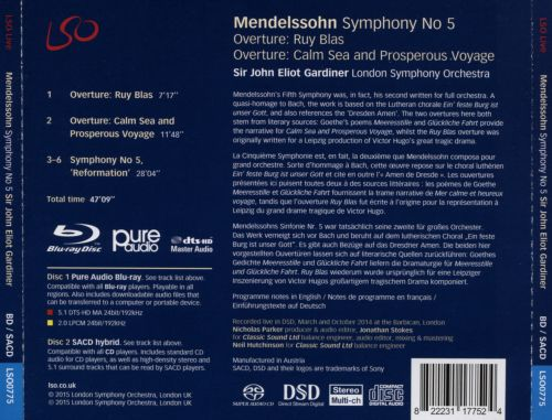Mendelssohn: Symphony No. 5 'Reformation'; Overture: Ruy Blas & Calm Sea and Prosperous Voyage