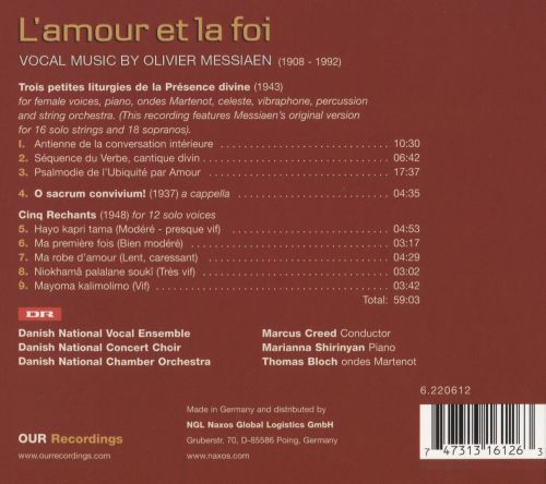 L'Amour et la Foi: Vocal Music by Olivier Messiaen