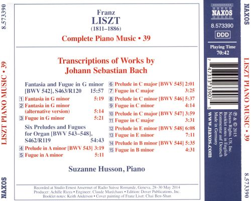 Franz Liszt: Complete Piano Music, Vol. 39: Transcriptions of J.S. Bach