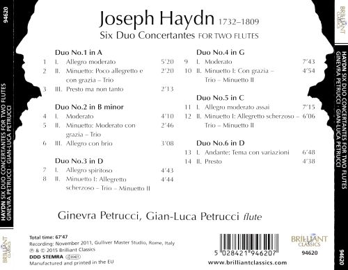 Haydn: Six Duo Concertantes for two flutes