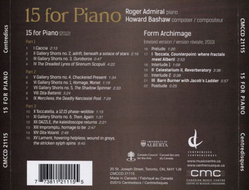 Howard Bashaw: 15 for Piano; Form Archimage