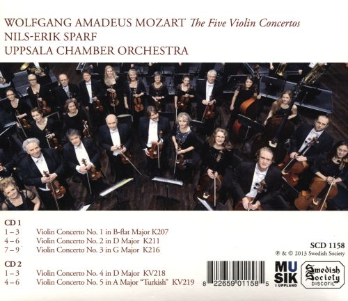 Mozart: The Five Violin Concertos