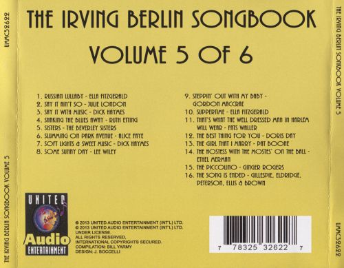 The Irving Berlin Songbook, Vol. 5