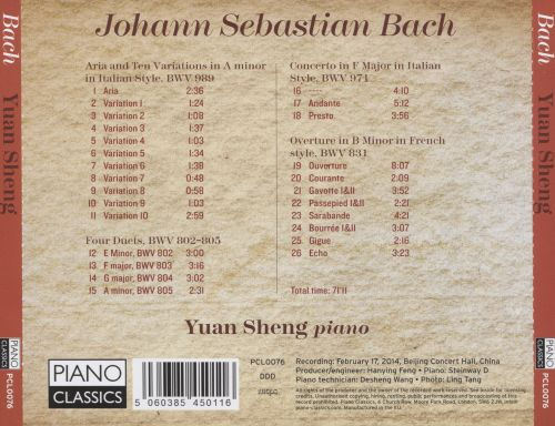 Bach: Italian Concerto; French Overture; 4 Duets; Aria & 10 Variations in Italian Style