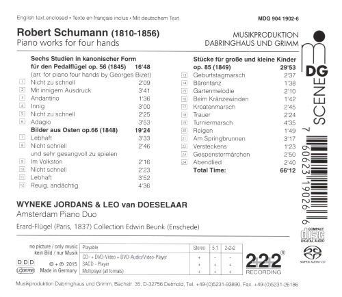 Robert Schumann: Piano Works for Four Hands