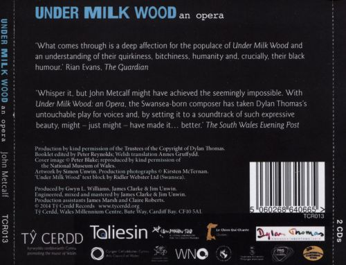 John Metcalf: Under Milk Wood