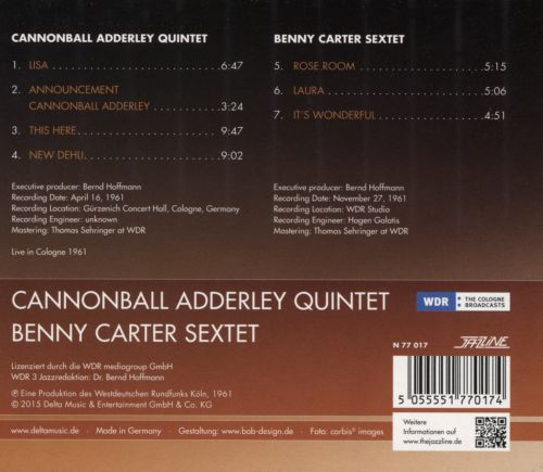 Live in Cologne 1961 + Benny Carter Sextet