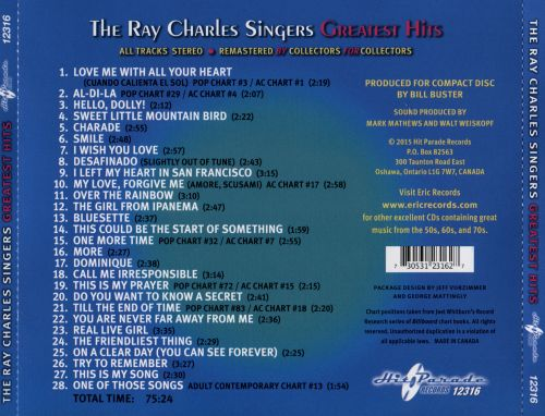 The Ray Charles Singers Greatest Hits
