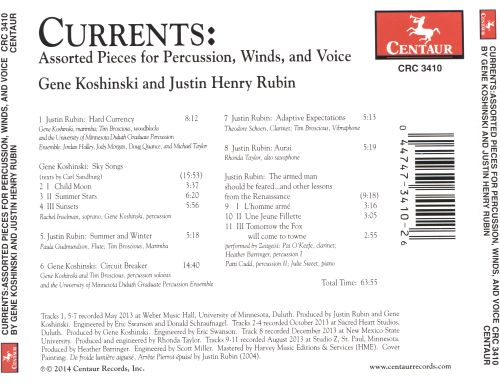 Currents: Assorted Pieces for Percussion, Winds, and Voice
