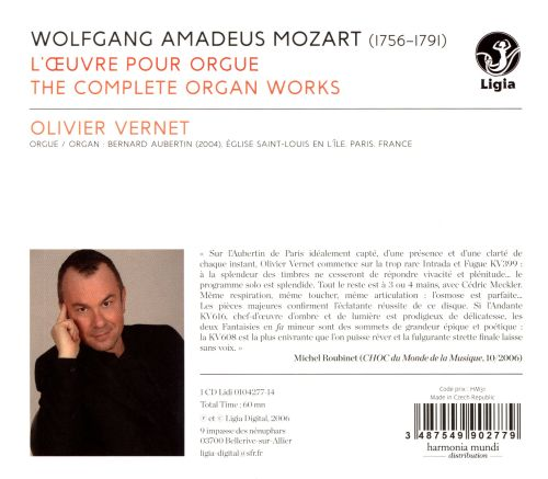 Wolfgang Amadeus Mozart: The Complete Organ Works