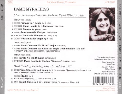 Live Recordings from the University of Illinois, 1949