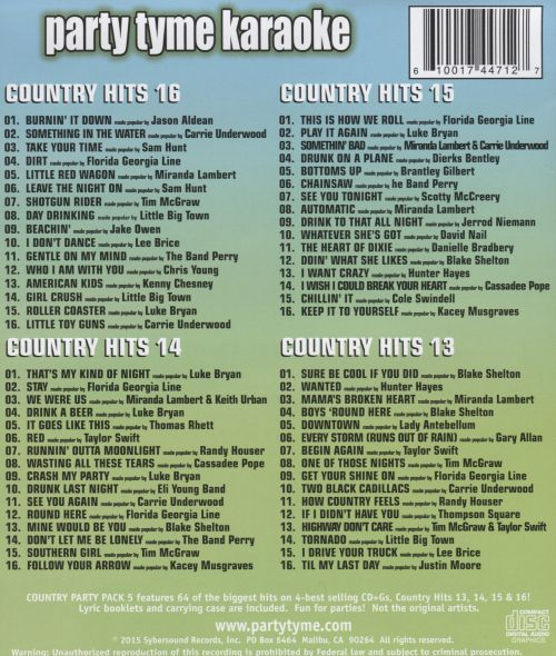 Party Tyme Karaoke: Country Party Pack, Vol. 5