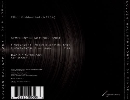 Elliot Goldenthal: Symphony in G# Minor