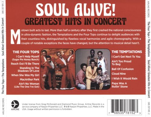 Soul Alive! Greatest Hits in Concert