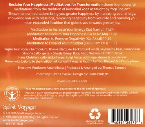 Reclaim Your Happiness: Meditations for Transformation