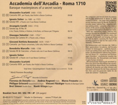 Accademia dell'Arcadia - Roma 1710: Baroque masterpieces of a Secret Society