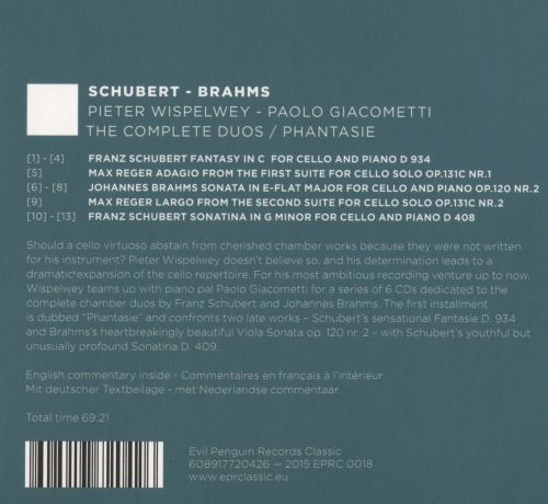 Schubert, Brahms: The Complete Duos; Phantasie