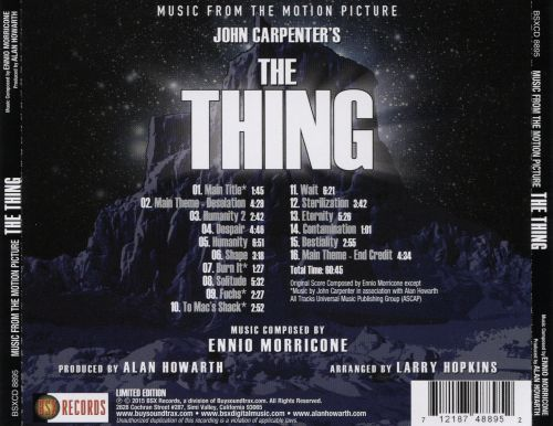 The Thing [Original Motion Picture Soundtrack]