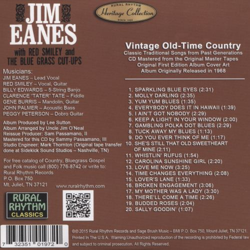 Jim Eanes With Red Smiley & the Bluegrass Cut-Ups