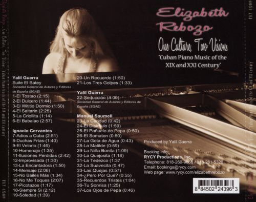 One Culture, Two Visions: Cuban Piano Music of the XIX and XXI Century