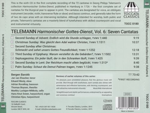 Georg Philipp Telemann: Harmonischer Gottes-Dienst, Vol. 6 - The cantatas for high voice, oboe and basso continuo I
