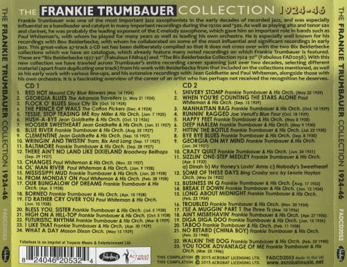 The Frankie Trumbaur Collection 1924-46
