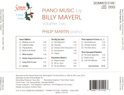 Piano Music by Billy Mayerl, Vol. 2