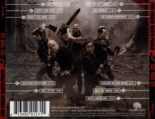 got your six five finger death punch songs reviews credits allmusic. Black Bedroom Furniture Sets. Home Design Ideas