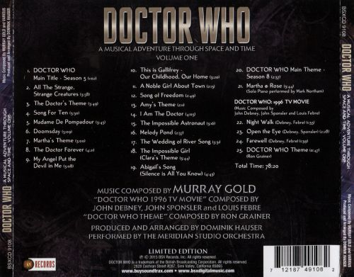 Doctor Who: A Musical Adventure Through Space and Time, Vol. 1