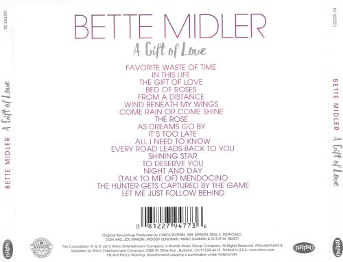 A Gift of Love - Bette Midler   Songs, Reviews, Credits   AllMusic
