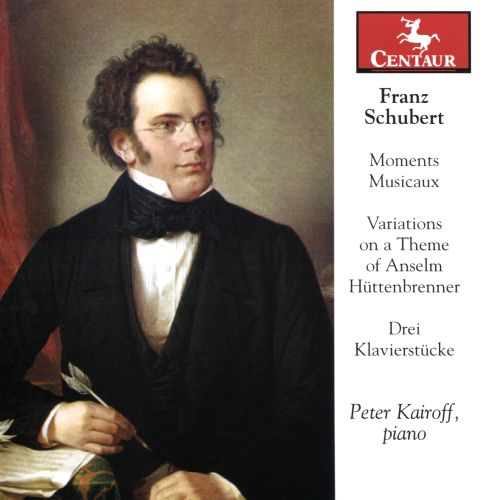 Franz Schubert: Moments Musicaux; Variations on a Theme of Anselm Hüttenbrenner; Drei Klavierstücke